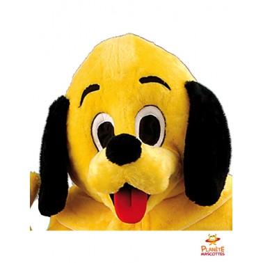 Tête mascotte de chien