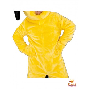 Mascotte chien jaune détails