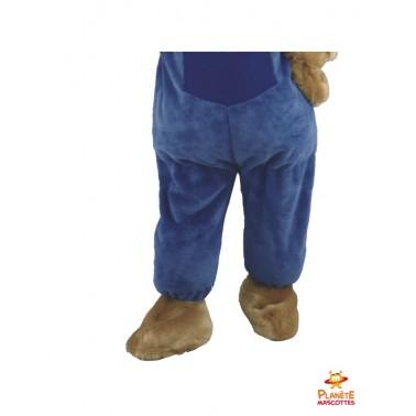 Pantalon mascotte ours habillé