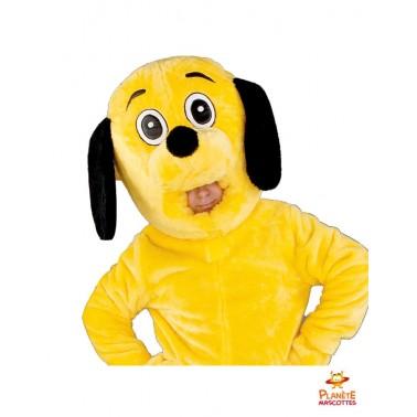 Costume mascotte chien jaune