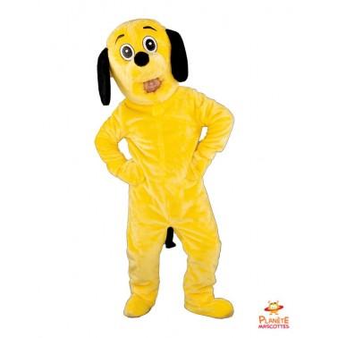 Mascotte chien jaune Planète Mascottes