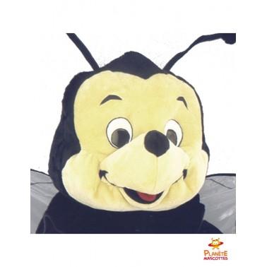 Tête costume mascotte abeille