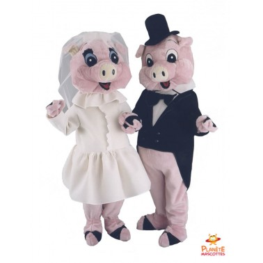 Married Pigs Mascot Costume