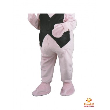 Pantalon mascotte cochon businessman