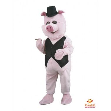 Pig Mascot Businessman