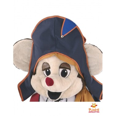Visage mascotte souris pirate