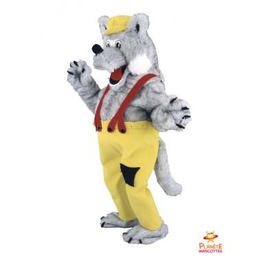 Costume mascotte Loup paysan