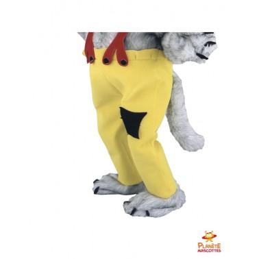 Pantalon mascotte loup paysan