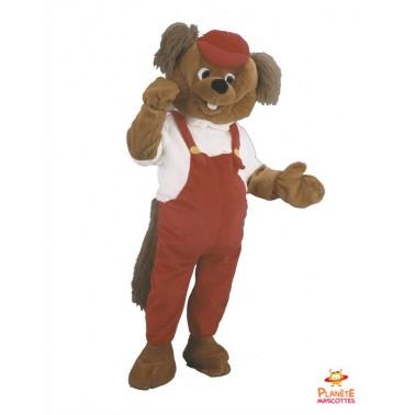 Disfraz de mascota de castor Planète Mascottes