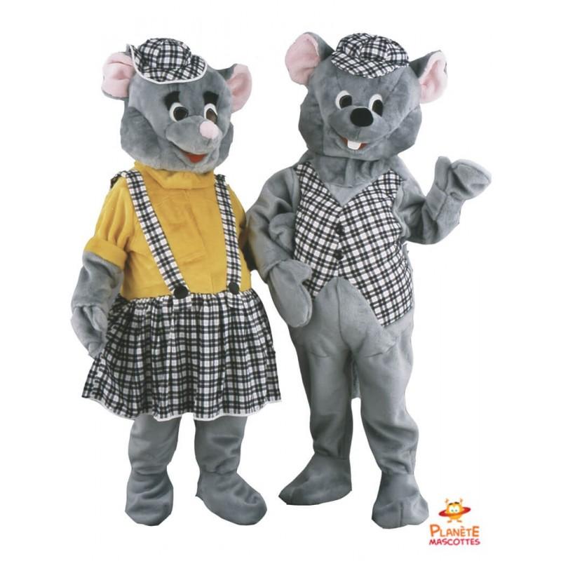 Mascotte couple de souris Planète Mascottes