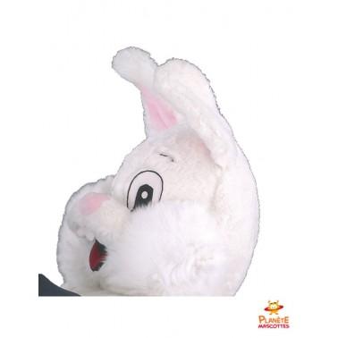 Tête costume mascotte lapin magicien
