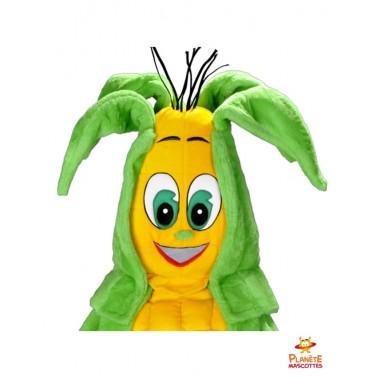Tête mascotte maïs Planète Mascottes