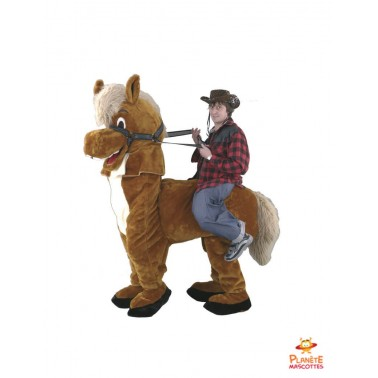 Mascotte a dos de cheval