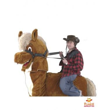 Costume mascotte à cheval