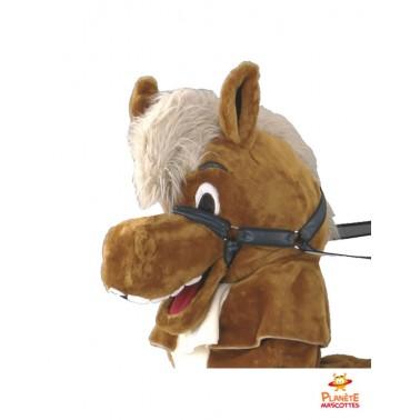 Tête mascotte à dos de cheval