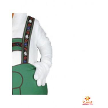 Détails mascotte costume canard