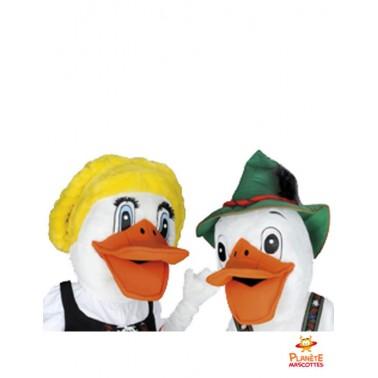 Couple mascotte canards
