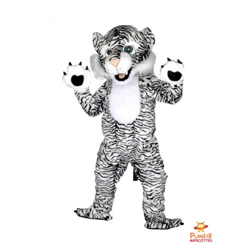 Mascotte tigre blanc Planète Mascottes