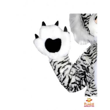 Détails mascotte tigre blanc