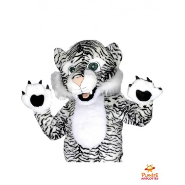 Costume mascotte tigre blanc