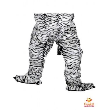 Pantalon mascotte tigre blanc