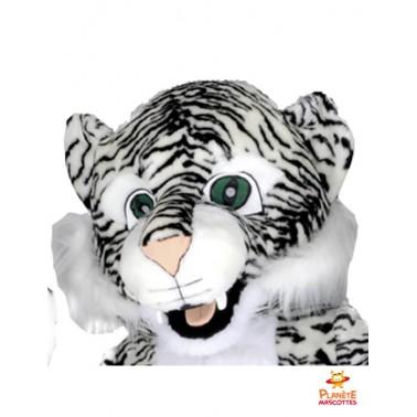 Tête mascotte tigre blanc