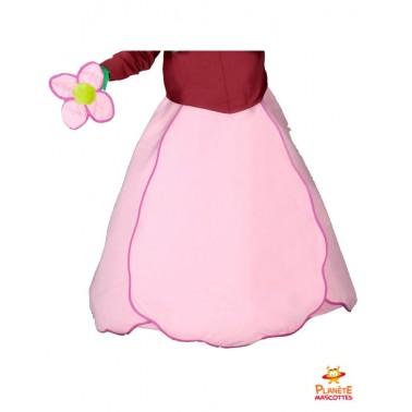 Jupe mascotte de fleur rose