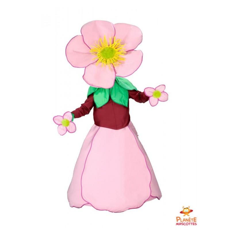 Mascotte fleur rose Planète Mascottes