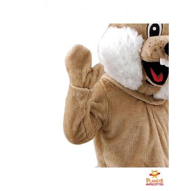 Détails costume mascotte lapin marron