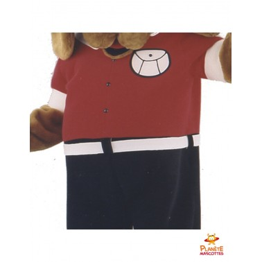 Détails mascotte de chien habillé Planète Mascottes
