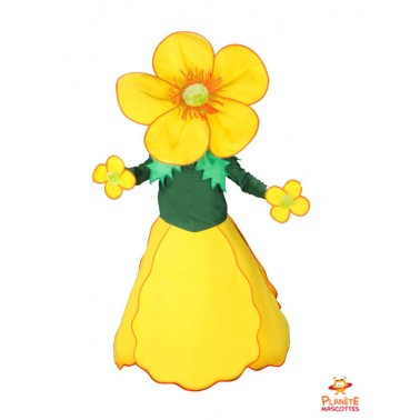 Mascotte fleur jaune Planète Mascottes