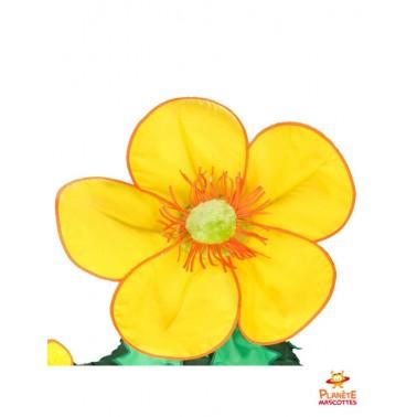 Tête mascotte de fleur jaune