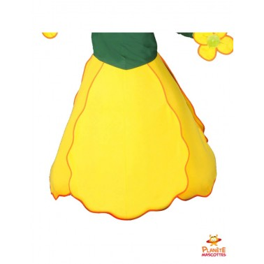 Jupe mascotte fleur jaune