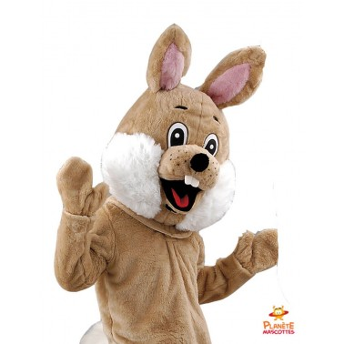 Costume mascotte de lapin marron
