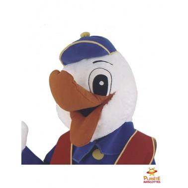 Tête costume mascotte canard