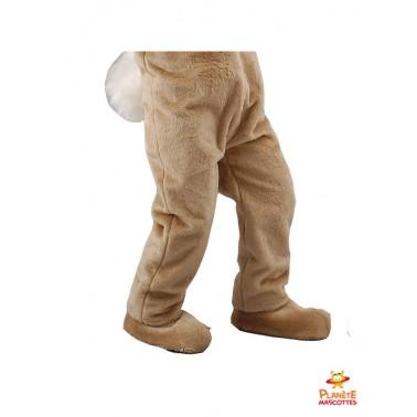 Pantalon costume mascotte lapin marron