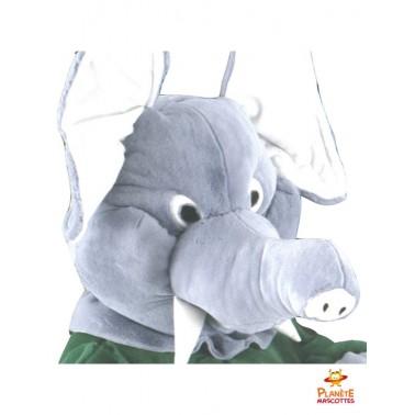 Tête mascotte éléphant