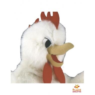Tête mascotte de poulet
