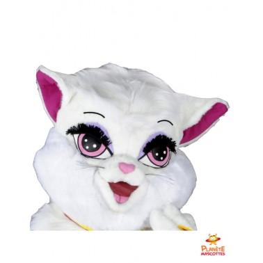 Visage mascotte de chatte