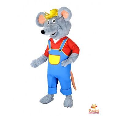 Disfraz del ratón en overol Planète Mascottes