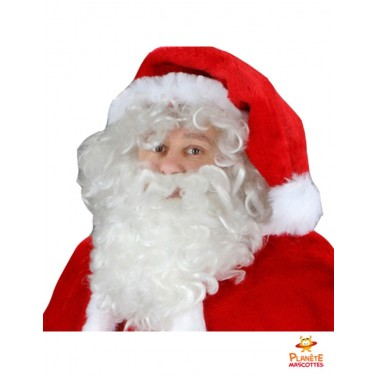 Tête costume mascotte Père Noël professionnel