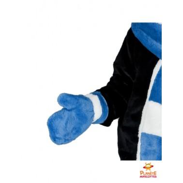 Détails mascotte costume de pingouin
