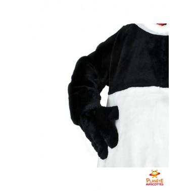Détails mascotte costume panda