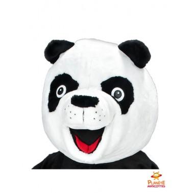 Tête mascotte costume panda