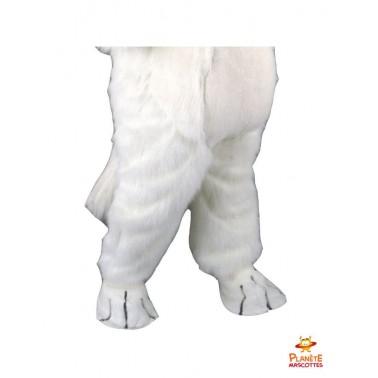 Pantalon mascotte chat blanc