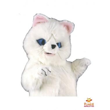 Mascotte chat blanc