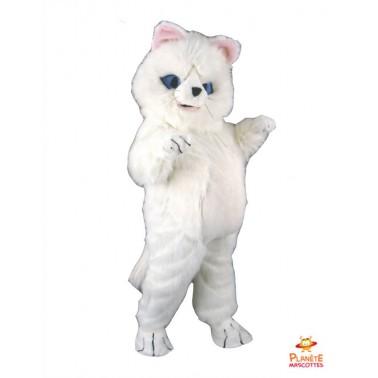 Mascotte chat blanc Planète Mascottes
