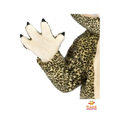 Détails mascotte de léopard