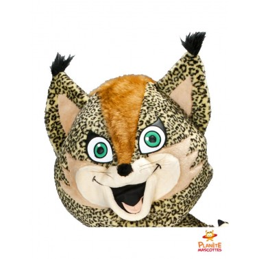 Tête costume mascotte léopard