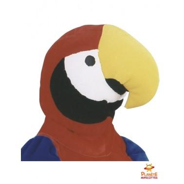 Tête mascotte de perroquet